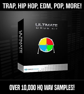Ultimate Drum Samples Loops Library 10,000+ HQ WAVs Fruity Logic Pro Tools