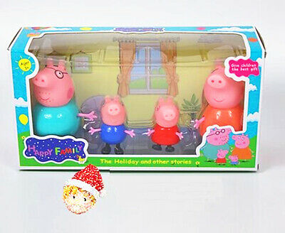 Peppa Pig 4pcs Family Figures Playset Gift Kid Toy Children Character Doll PVC