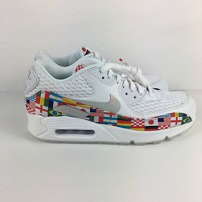 various colors 27cfb b174c NIKE AIR MAX 90 NIC International Flag Size 8.5 AO5119-100 World Cup White