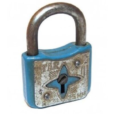 Vintage Miniature Star No. 234 Enameled Padlock - No Key