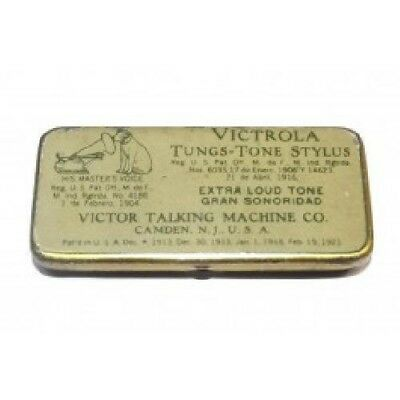 Antique Victor Talking Machine Co. Victrola Tungs-Tone Stylus Tin - Extra Loud