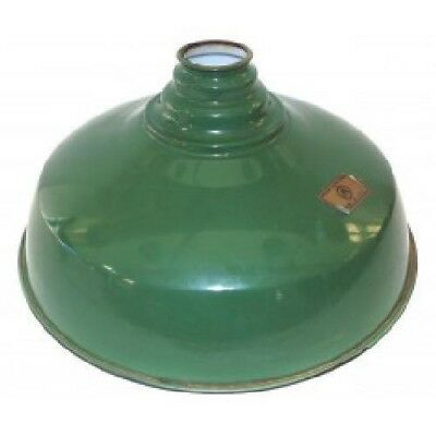 Vintage Appleton Electric Green Porcelain Enamel Light Shade Gas Station Globe