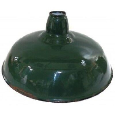 Vintage Green Porcelain Enamel Gas Station Light Industrial Barn Fixture Shade