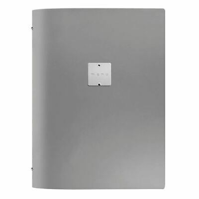 DAG Menu Cover Holder of Thick Real Leather for Restaurant in Grey A4