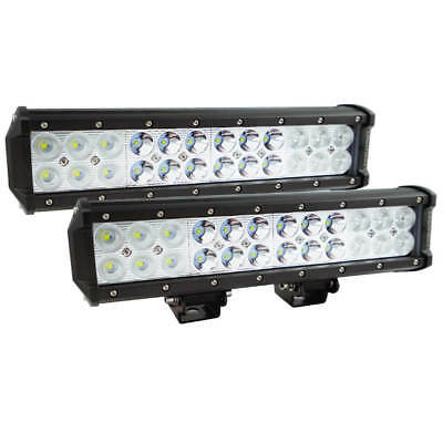 Pair 12inch CREE LED Work Driving Light Bar Spot Flood Offroad Lamp 4WD Reverse