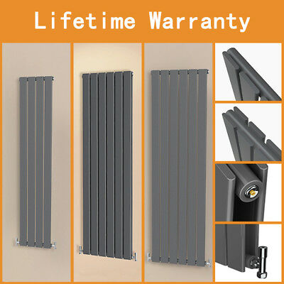 Anthracite Vertical Flat Column Panel Designer Radiator Tall Upright New UK