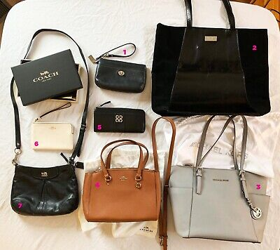 07edcf647a Lot of SEVEN 7 Handbags & Wallets! All COACH, Michael Kors, Jimmy Choo