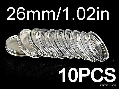 10PCS DIRECT FIT AIRTIGHT COIN CAPSULES HOLDERS CAPSULES. 26 mm(Inner diameter)