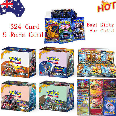324pcs 36 Packs Pokemon Bulk Lot+9 Rare Card TCG Booster Box Rares