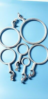 Lab cast iron Ring Stand, Support ring Swivel Clamp (6 pieces ) Silver new