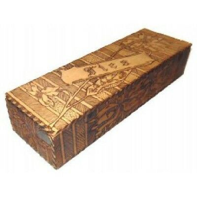 Antique Wizard Brand Flemish Art Pyrography Wood Tie Box by F. Grammes