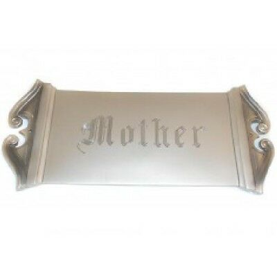 Early 1900's Antique Engraved Mother Coffin Plaque Funeral Sign