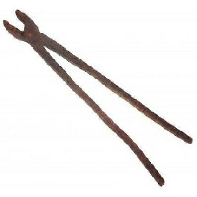 Rusty Primitive Antique Pair Hand Forged Blacksmith Pliers Tongs Handmade Tool