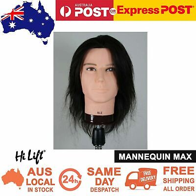 Hi Lift Head Mannequin Doll Max Human Hair Practice Hairdressing Training