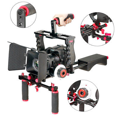 Film Movie Kit System Support Rig Video Cage for Nikon Canon Sony DSLR Cameras