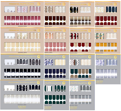 [DASHING DIVA] KOREA GLOSS GEL NAIL STRIP PREMIUM PALETTE New 30Tips