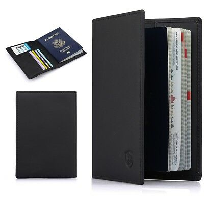Multi-purpose Rfid Blocking Travel Passport Wallet Bi-fold Document Organizer US