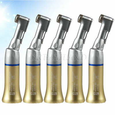 5Pcs YBB Dental Slow Low Speed Handpiece Contra Angle E-type Gold Fit NSK EX203C