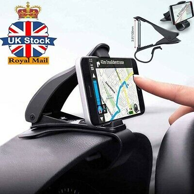 Universal Clip On Car HUD GPS Dashboard Mount Cell Phone Holder Non-slip Stand #