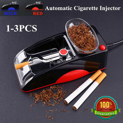 1-3X Blue Red Tobacco Maker Machine Electric Automatic Cigarette Injector Roller