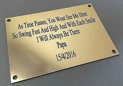 BP62 AS TIME PASSES Bench Seat ABS Engraved Brass Plaque Plate Sign Grave Marker