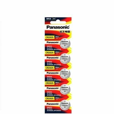 5xFor Panasonic CR2025 Lithium Battery 3V Coin Cell