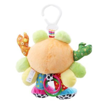 Crab Cot Bed Pram Hanging Baby Infant Soft Rattle Animal Soothing Plush Toy T