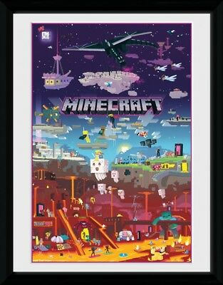 Minecraft - World Beyond Framed Collector Poster (16x12in) #106746