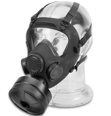 Polish MP5 Gas Mask /Respirator + Sealed NATO 40mm Filter, Carrier Bag -Preppers