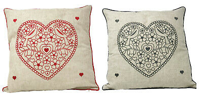 CLEARANCE Pack Of 4 Hearts Cushion Covers 17inx17in (43cmx43cm) Approx