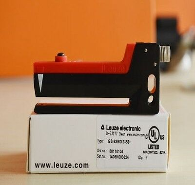 USED LEUZE label Groove sensor GS 63 / 6D.3-S8 in box #OH19