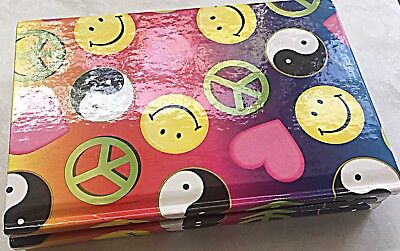 Peace Smiley Notepad Planner Memo Pad Notebook Pocket Journal Portable Diary