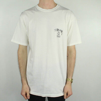 3de2f2cd5 STUSSY SURF SKULL Pig Dyed Graphic T-Shirt Tee in Natural in size S ...