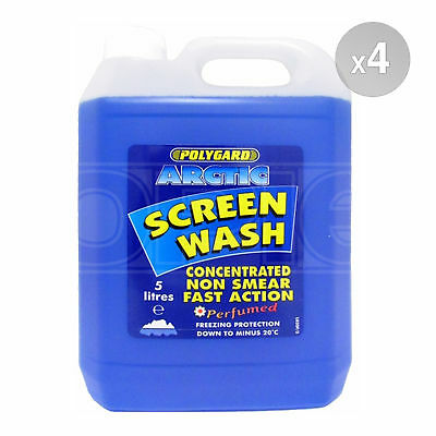 Polygard Arctic Concentrated Screen Wash - 4 x 5 Litres 20L