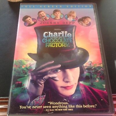 CHARLIE AND THE CHOCOLATE FACTORY with Johnny Depp - Full Screen Edition DVD