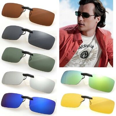 c1888d266a New Polarized Lenses Flip-Up Clip On Sunglasses UV400 Driving Outdoor  Glasses US