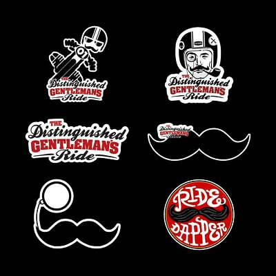 Pegatinas The distinguished gentlemans ride stickers Cafe Racer bigote moto