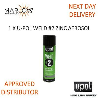 U-Pol Weld 2 Zinc Weld Through Primer Aerosol - Upol