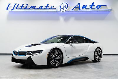 2014 BMW i8  Crystal White Pearl Metallic w/Frozen Blue Accent. Tera Excl Dalbergia Brown Int