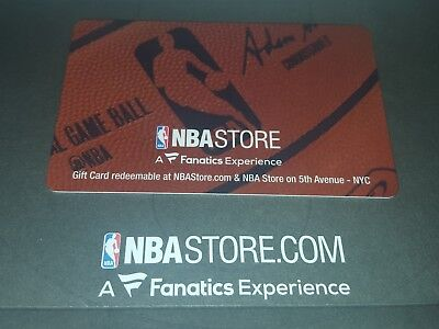 NBA Store $100 Gift Card (plastic gift card)