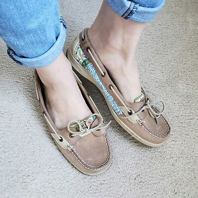 6c8ddf60db WOMENS 10 TROPICAL Sperry Top-Sider Angelfish Beige Boat Shoes ...