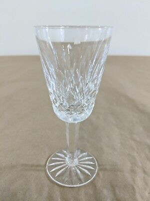"""G27 Waterford Crystal Lismore Water Goblet Glass 5 1/8"""" Tall 2 /8"""" Dia. Signed"""