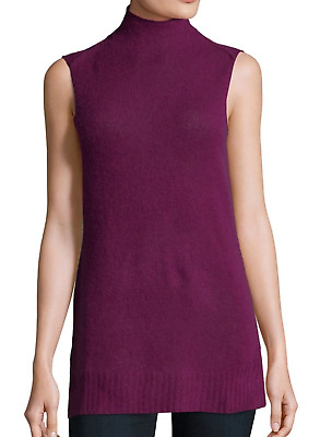8f6cbadf1d41 Womans 100% Cashmere Lord   Taylor Design Lab Maroon Sweater Vest size M   88 NWT