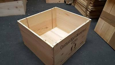 3 x MAGNUM FRENCH WOODEN WINE CRATE SQUARE BOXES HAMPER DRAWERS STORAGE