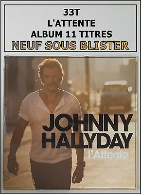 Johnny Hallyday 33T Neuf Sous Blister - L'attente - Rare