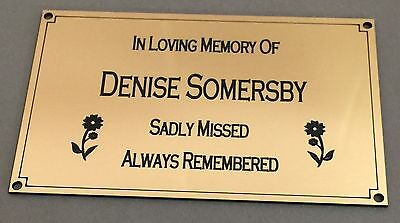 BP17 In Loving Memory Of ABS Engraved Daisy Brass Memorial Plaque Plate Grave