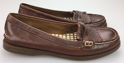a654318fb2f Sperry Top Sider Womens 8.5 Avery Kiltie Moc Flats Penny Loafers 9294711  Brown