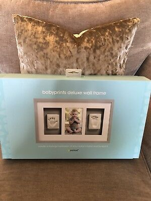 Babyprints Deluxe Wall Frame Grey Brand New Free Postage
