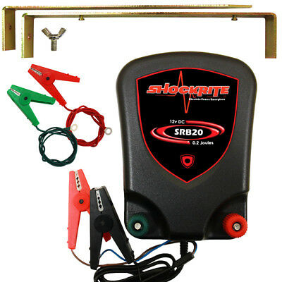 Electric Fence Energiser ShockRite SRB20 Battery Powered 12V 0.2J Fencer