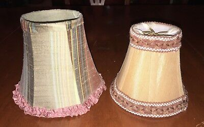 Two Art Deco Dressing Table Lampshades Excellent Condition No Reserve